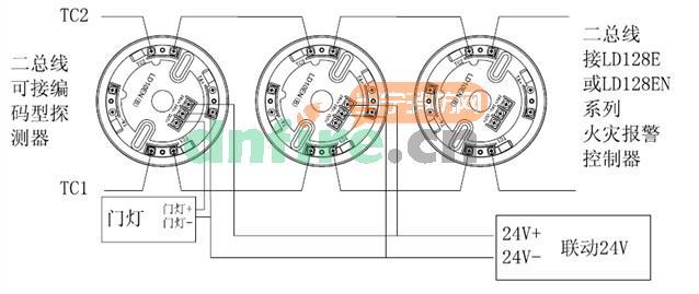 图图/具体接线如下图:探测器及底座接线图