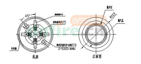 132A煤制气可燃气体探测器接线图:-JQB HX2132A煤制气可燃气体图片