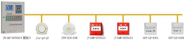 JB-QB-GST500型火灾报警控制器(联动型)是一种最大容量可扩展到二个242编码点回路的控制器,其主要特点如下: 1.采用大屏幕汉字液晶显示器,各种报警状态信息均可以直观的以汉字方式显示在屏幕上,便于用户操作使用; 2.控制器设计高度智能化,与智能探测器一起可组成分布智能式火灾报警系统,极大降低误报,提高系统可靠性; 3.