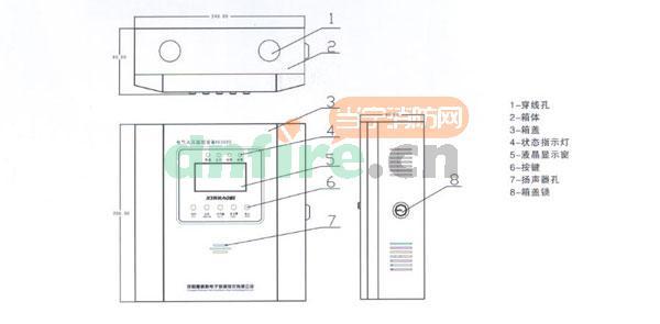 XE3020电气火灾监控设备总结构图
