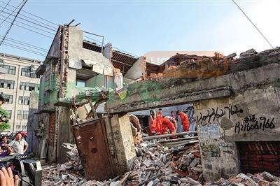 瓯海一幢两层房屋装修时倒塌 致1死3重伤