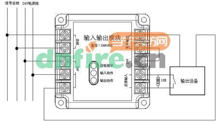 300plc输出模块内部电路图