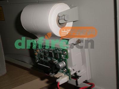 gst200报警控制器备用电源与打印机打印纸的安装调试