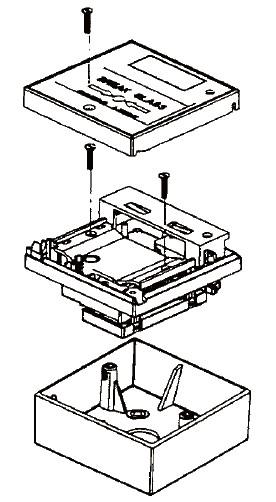 手动报警按钮及消火栓按钮明装盒结构示意图