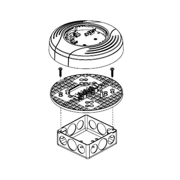 b200sr 智能蜂鸣器底座结构示意图