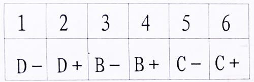 图3终端盒接线端子说明
