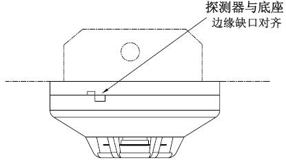 探测器、底座及预埋盒配合图