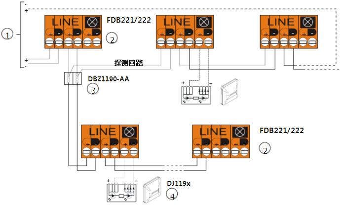 商城 接线/编址回路接线图