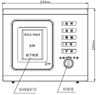 GST-LD-8316手自动转换开关外形示意图