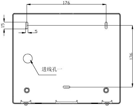 转换开关采用壁挂式安装,安装孔位置和安装孔距