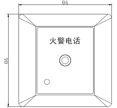GST-LD-8312 型消防电话插孔外形尺寸及结构示意图