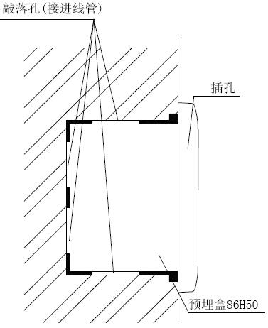 GST-LD-8312消防电话插孔安装方式