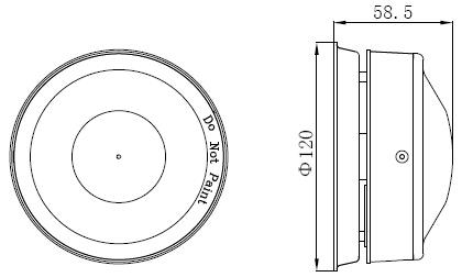 GSTI-9402火灾声警报器外形尺寸示意图
