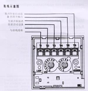 J-XAP-M-M500H消火栓按钮安装接线图