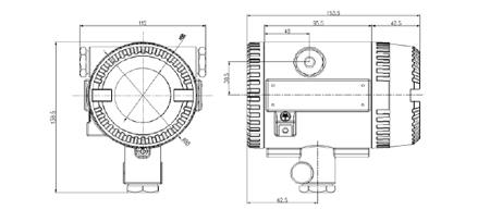 SL-D622火焰探测器外形及安装尺寸