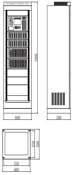 JB-TG-SL-M6000柜式火灾报警控制器柜体尺寸图