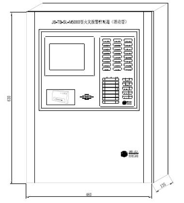 JB-TB-SL-M5000火灾报警主机外形与结构尺寸图