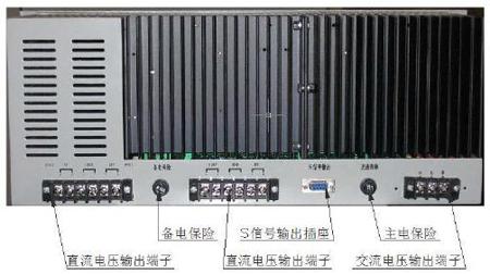 M5000柜式控制器电源后面板图