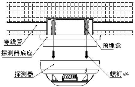 SH-BK2D-S点型光电感烟火灾探测器安装图