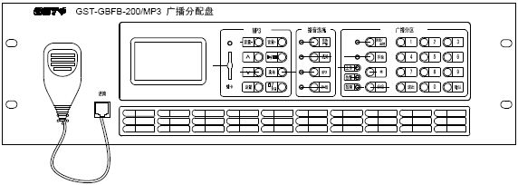 GST-GBFB-200/MP3广播分配盘结构特征