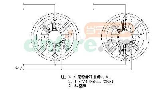 可燃气体探测器接线图图片
