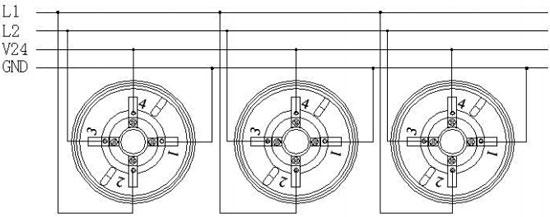 132B编码型可燃气体探测器接线示意图图片