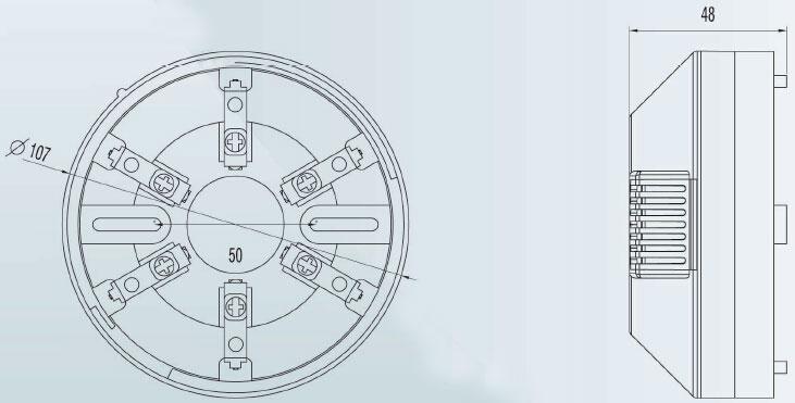 COD独立式可燃气体探测器端子接线及外形尺寸图图片