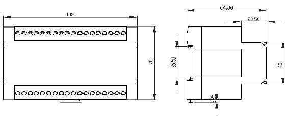 usc6532三相三线电压电流传感器接线端子说明