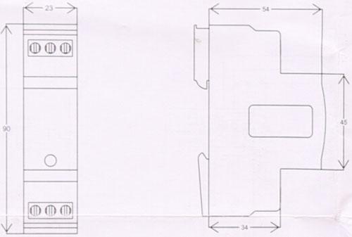 TD230交流浪涌保护器外形尺寸图