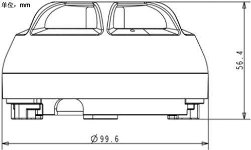 JTW-A2F-FDT181C点型感温火灾探测器(含底座)外形尺寸图