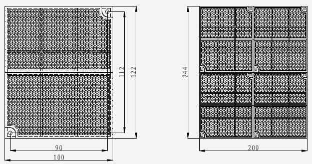 TX6702线型光束感烟火灾探测器反射器示意图