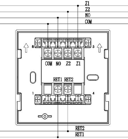 TX3982型底座接线示意图