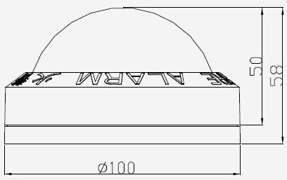 TX3303 光警报器外形示意图