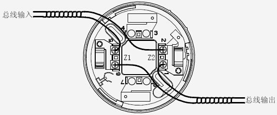 TX3303 光警报器端子及底座示意图