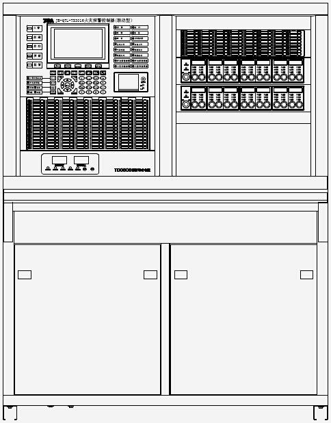 JB-QTL-TX3016A火灾报警控制器外观结构示意图