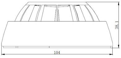 JTWB-ZOF-GW602DEx点型感温火灾探测器外形结构示意图