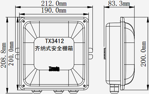 TX3412齐纳式安全栅箱