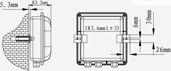 TX3411齐纳式安全栅箱安装示意图