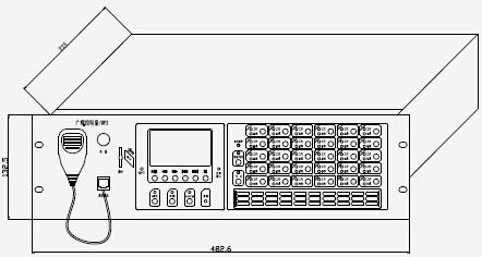 hy5723d广播控制盘/mp3产品结构外观