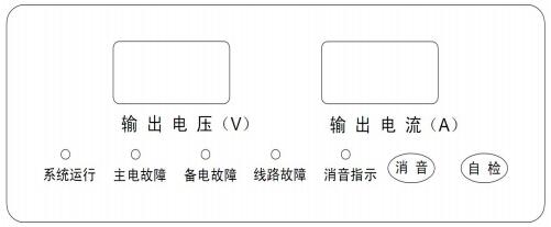 TD0804B联动电源面板结构示意图