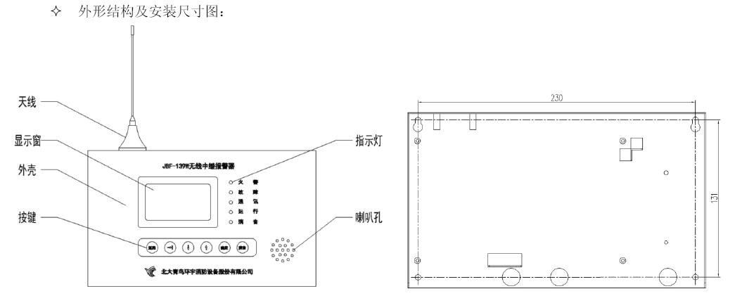 JJBF-139W无线中继报警器结构特征