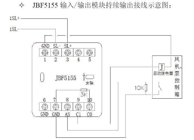JBF5155输入/输出模块持续输出