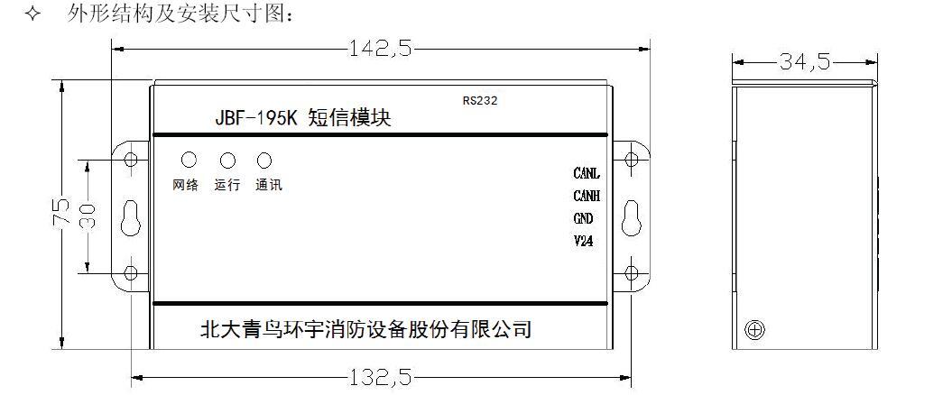 JBF-195K短信模块结构特征