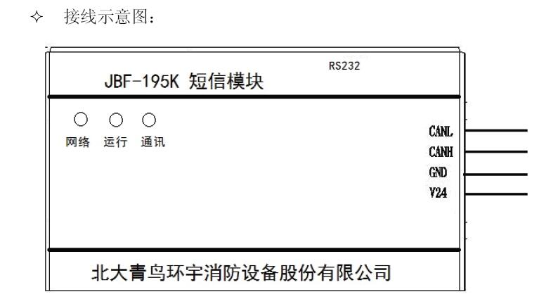 jbf-195k短信模块接线示意图征