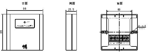 可检测配接的非编码火灾探测器的状态信息(正常,断线,火警)及dc24v