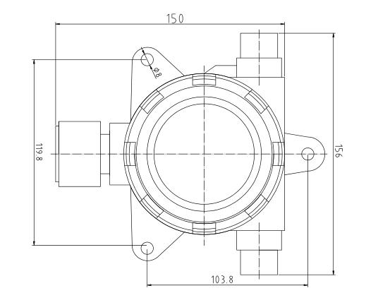 三,lw5603i点型可燃气体探测器结构图