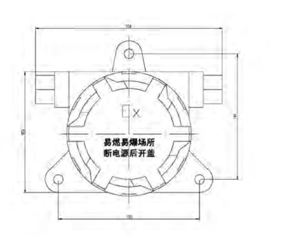 三,lw5603点型可燃气体探测器结构图