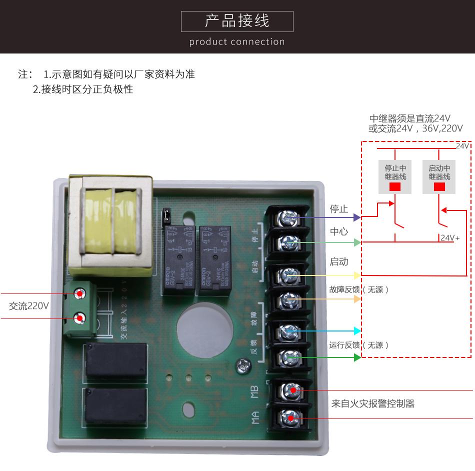 HJ-9506中继模块产品接线图