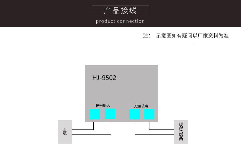 HJ-9502输入模块产品接线图