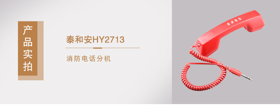 泰和安HY2713消防电话分机实拍